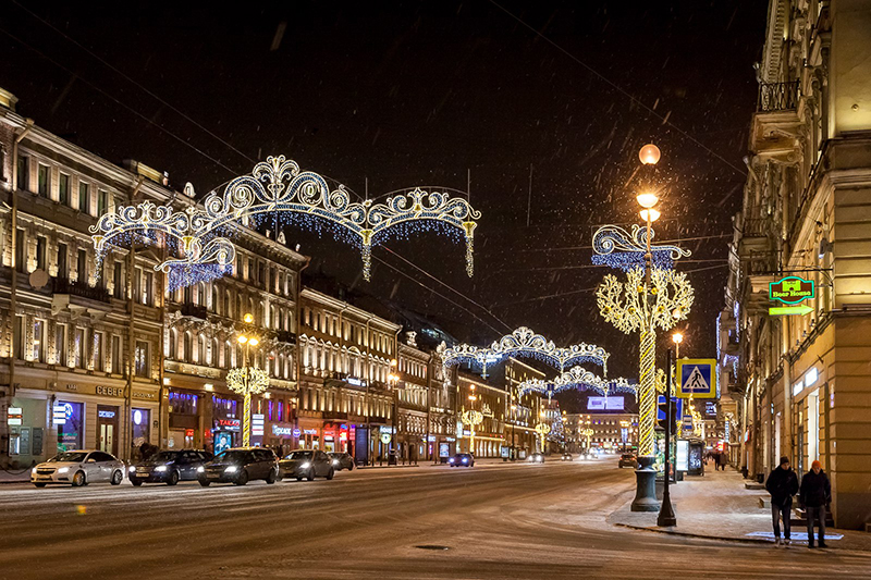 Neujahr in St. Petersburg